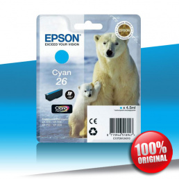 Tusz Epson 600 XP (T2612) CYAN 4,5ml